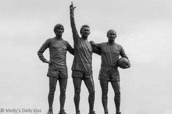 George Best statue outside Old trafford