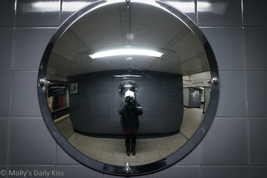 Self portrait on London Underground