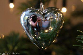 Silver Heart reflection self portrait