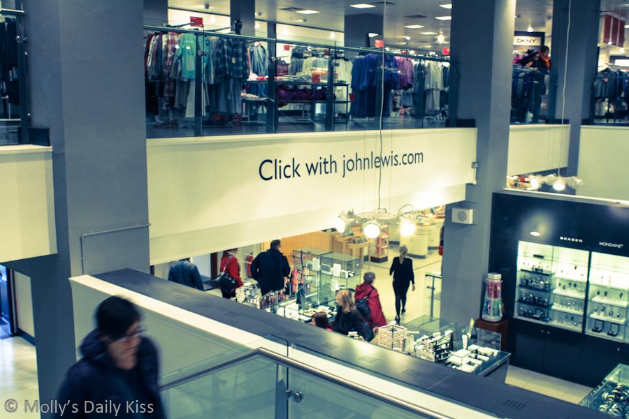 Shopping in John Lewis