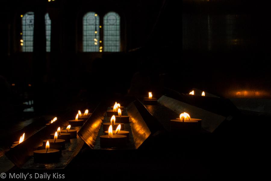 Candles in Cathlic church