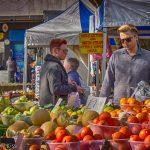 Colourful fruit at Hatfield market