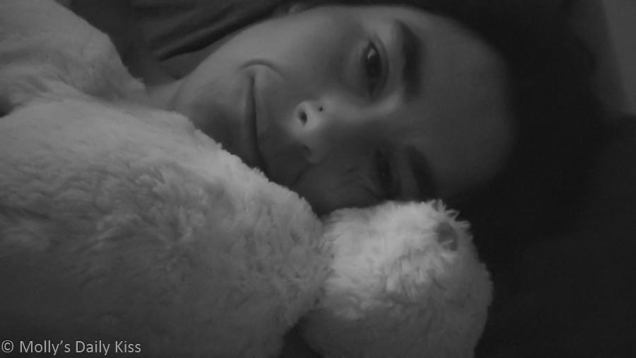 Molly self portrait with teddy
