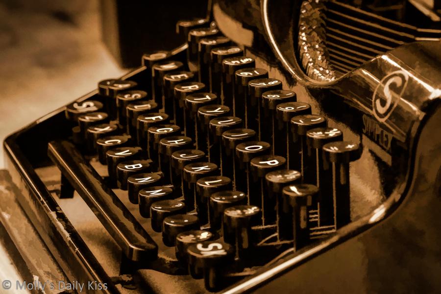 Old Typewriter in monochrome