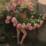 Molly in her Rose garden