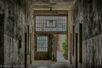 Open door at Eastern State Penitentary