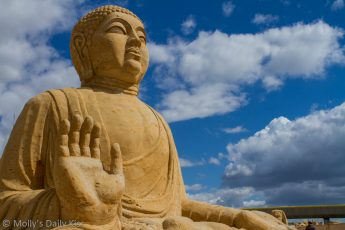 Budhha made out of sand
