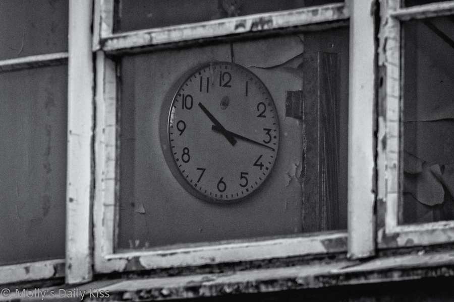 Clock in the Shedded Wheat factory Welwyn garden city