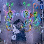 Crying girl graffiti in Brighton