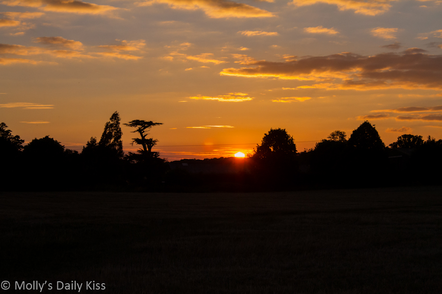 Sunset Tewin Hertfordshire