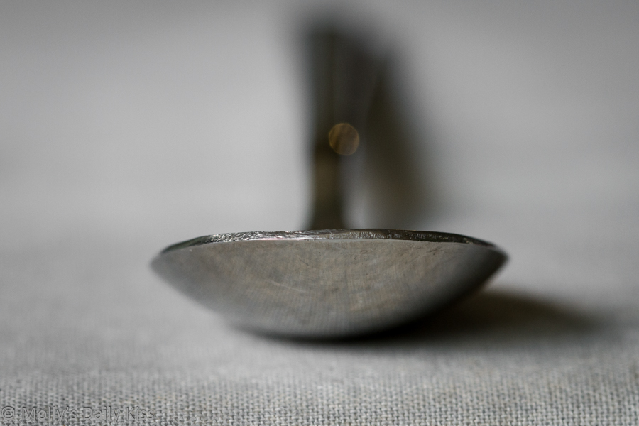 Macro shot of spoon
