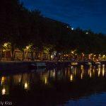 Bristol harbour at night