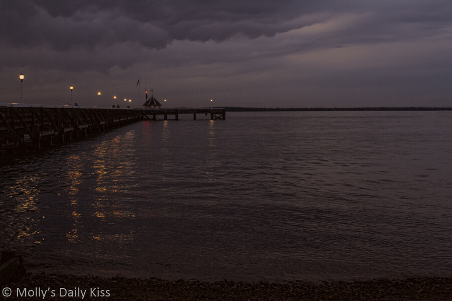 Yarmouth pier isle of wight dusk