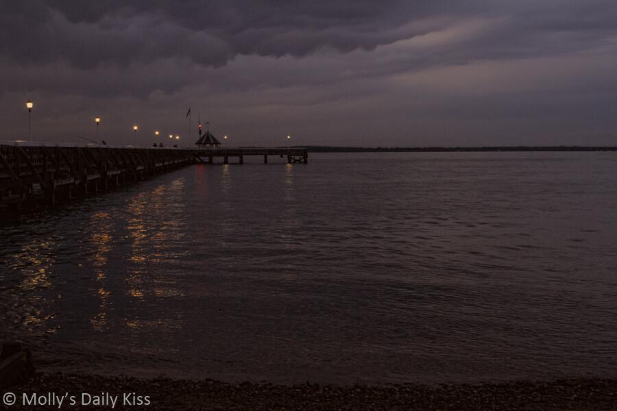 Yarmouth pier isle of wight dusk