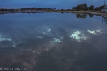Sky reflected in the River Yar, Yarmouth