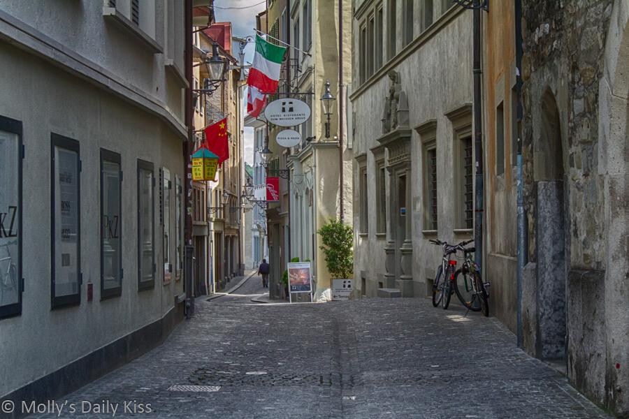 Alleyway in Zurich switzerland