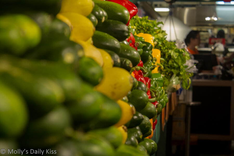 Row of vegetables in Reaing Terminal Market