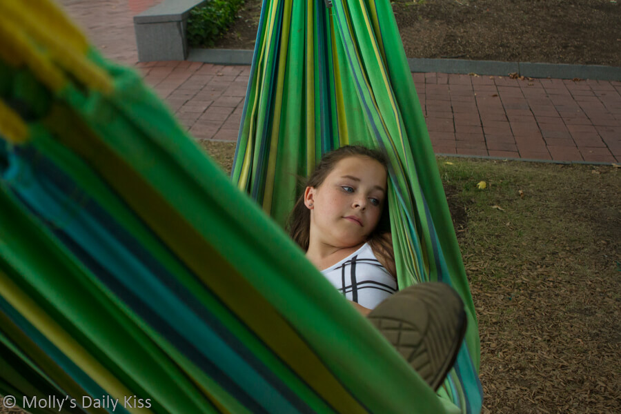 Girl laying in Hammock Philadelphia