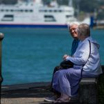 Old couple sitting by the sea when I'm 64 on the Isle of Wight