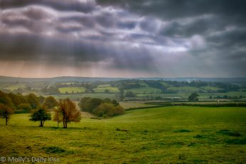 View over Brede Valley East Sussex