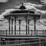 Black and white of bandstand on Brighton seafront
