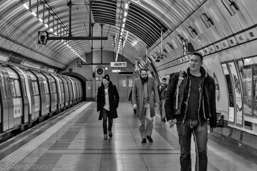 People on the underground