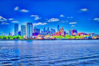 Philadelphia City sky line