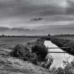 Black and white of Rye Marshes