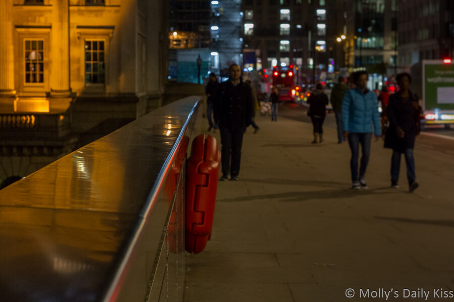 reflection in London Bridge