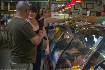 Couple shopping in Reading Terminal Market