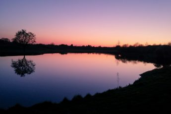 Sunset reflection over Mill Green Golf Course Hertfordshire