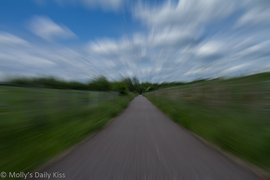 Motion blur along footpath