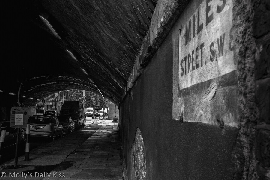 Miles Street London in Black and White