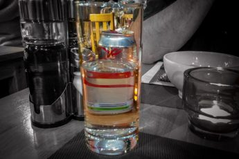 Colours in my dinner glass
