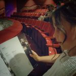 Young girl at the theatre