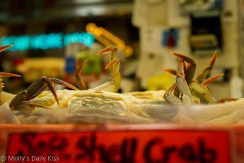 Crab legs in Reading Terminal Market