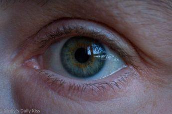 Close up shot of Molly's eye