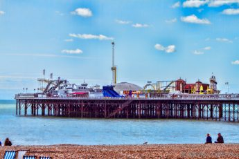 Brighton Pier seaside beach blue sky