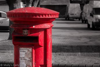 Red mailbox in England