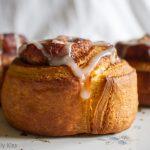 Cinnamon buns on flower plate