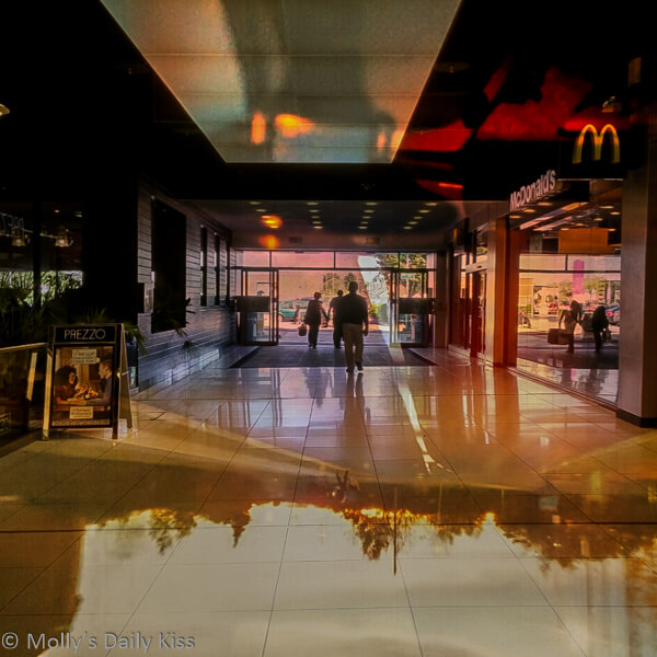 Inside Shopping mall photography experiment