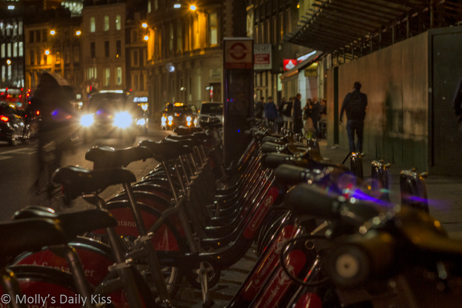 Boris Bike at night