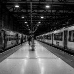 Kings Cross station at night platform 9 taking the train