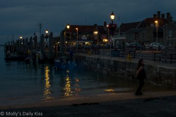 yarmouth Harbour Isle of Wight dusk night and day