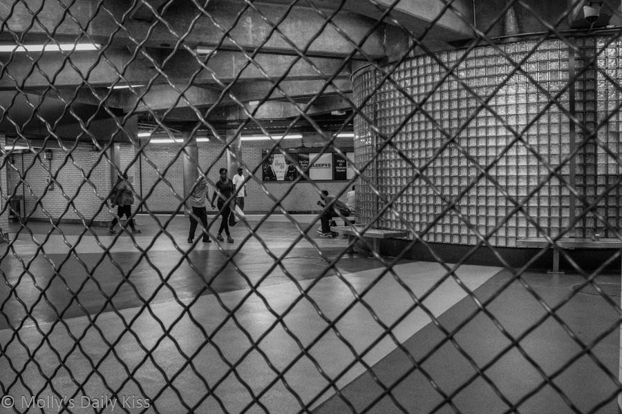 Barricades in Phildelphia subway