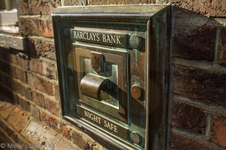 Barclays Night safe in wall Rye