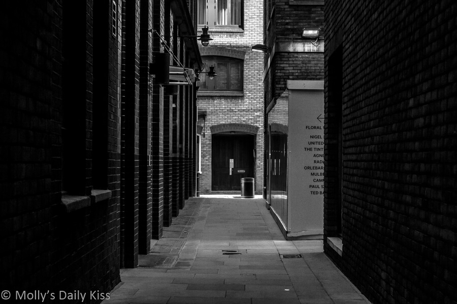 London Alley Covent garden out of the familiar
