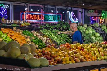 Fruit market in Philadelphia reading terminal food market