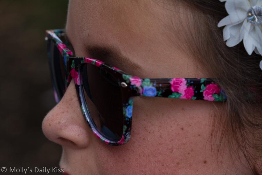 Teen girl in sunglasses