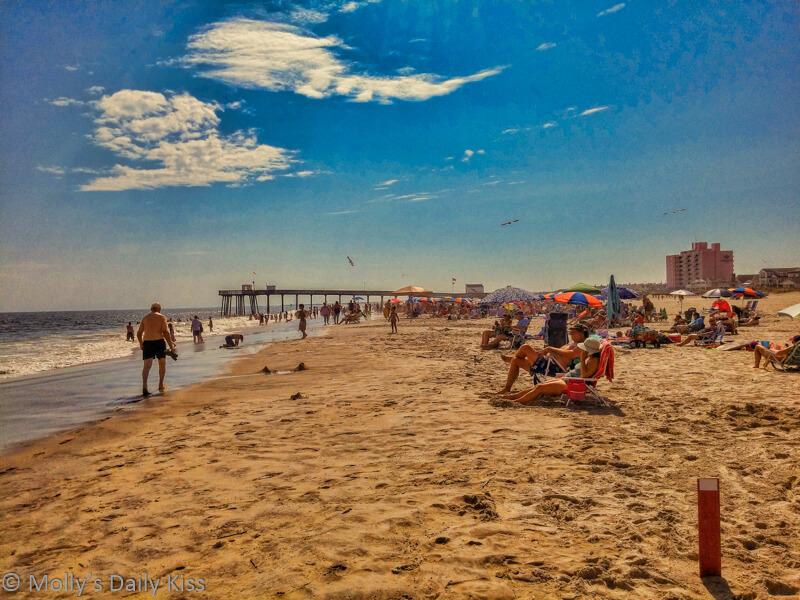 Ocean City New Jersey beach by the sea